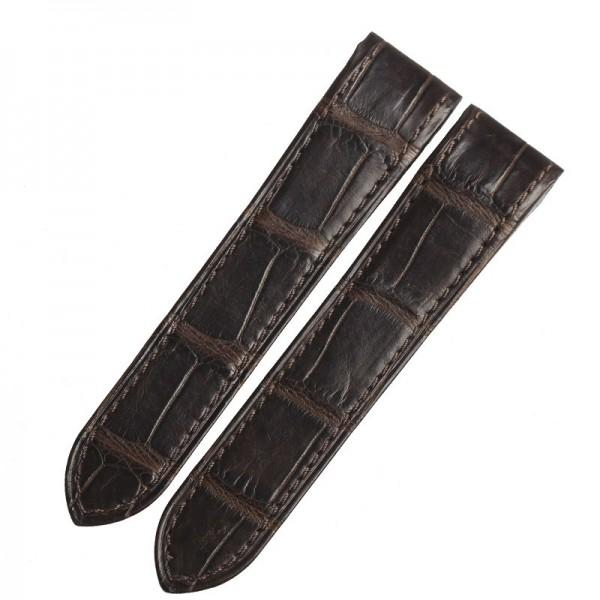 Brown Genuine Crocodile leather